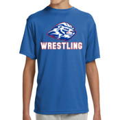 Wrestling - NB3142 A4 Youth Shorts Sleeve Cooling Performance Crew Shirt