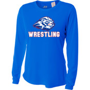 Wrestling - NW3002 A4 Ladies' Long Sleeve Cooling Performance Crew Shirt