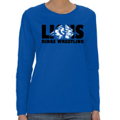 LIONS - G540L Gildan Heavy Cotton™ Ladies' 5.3oz. Fit Long-Sleeve T-Shirt